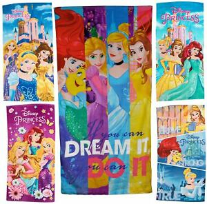 Disney Princess Towel Summer Swimming Beach Bath Towel Cinderella Ariel Rapunzel