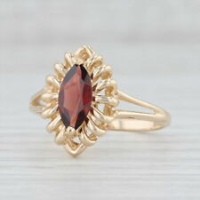 1.40ct Garnet Ring 14k Yellow Gold Size 8 Marquise Solitaire January Birthstone