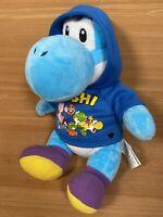 Build A Bear Workshop Blue Yoshi Nintendo Plush With Mario Coat Rare Soft Toy