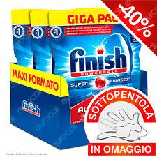 3x100 Pastiglie Finish Powerball Tutto in Uno Max per Lavastoviglie Giga Pack