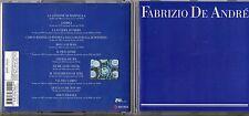 FABRIZIO DE ANDRE CD same BLU omonimo EDIZIONE 2002 SONY BMG
