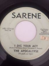 """GARAGE 45/ THE APOCALYPSE """"I DIG YOUR ACT""""    HEAR!"""
