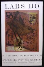 Lithographie LARS BO Galerie des Peintres Graveurs Janvier 1981