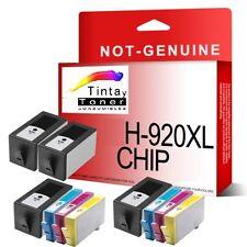 10 Tintas NonOem HP 920xl con chip OfficeJet 6000 6500-a 7000 7500-a e710a e710n