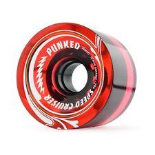 Gel RED Longboard Skateboard WHEELS 71mm (Set of 4)