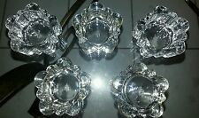 5 Partylite Glass Candle Holders