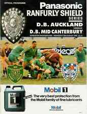 Auckland v Mid-Canterbury 30 Aug 1989 Ranfurly Shield, NZ Rugby Programme