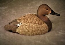 Original wood carving of a hen Canvasback