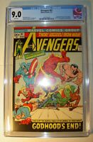 Avengers #97 CGC 9.0, VF/NM,White pages,1972, Golden Age Cap, Torch, & Subby