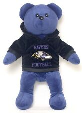 """Baltimore Ravens 14"""" Hoody Bear With Team Logo and Color New With Tags"""