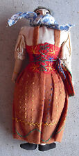 "Vintage 1950s Cloth Ragdoll Grandmother Character Doll 8 1/2"" Tall"