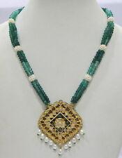 diamond enamel work necklace pendant India Vintage antique 20K Gold rose cut