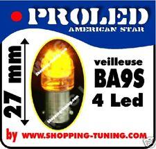 2 ampoule LED LIGHT BULB 4LED Orange Amber répetiteur T4W BA9S polarisée !!!