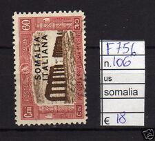 FRANCOBOLLI ITALIA COLONIE SOMALIA USATI N°106 (F756)