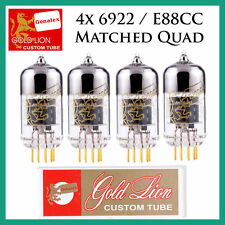 New 4x Genalex Gold Lion 6922 / E88CC | Matched Quad / Quartet / Four Tubes