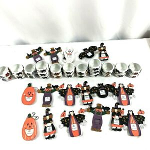 Halloween Magnet Picture Frames and Tea Light Candle Holders Lot of 41 Items