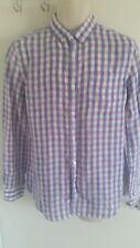 BNWT John Lewis 'Pure Linen' Mens L/Sleeve Check Shirt (Size S) RRP £42