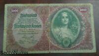 Banknote .Austria. 5000 Kronen 1922 Pick 79