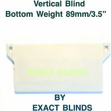 """VERTICAL BLINDS WHITE BOTTOM  WEIGHTS FOR 3.5"""" (89mm)  REPAIRS & SPARE PARTS"""