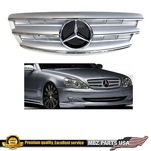 2003 2004 2005 2006 S-Class silver grille AMG custom star emblem S430 S500 S55