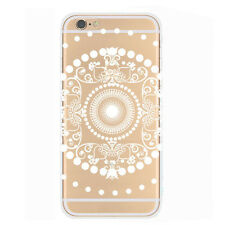 Fashion Classical Relief Transparent Hard Case Cover for iPhone 6 4.7inch лучай