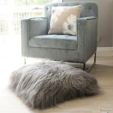 GREY ICELANDIC SHEEPSKIN FLOOR EURO CUSHION COVER PILLOW  60cm SHAGYY LONG FUR