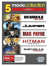 DIE HARD 4 + JUMPER + MAX PAYNE + HITMAN + BABYLON A.D - NEW & SEALED 5-DISC DVD