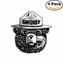 Smokey Bear Decal Diecut Sticker 4 Stickers