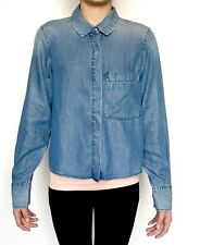 AllSaints Biella Light Denim Shirt NWT Retail $160 Price $79 Size 2 All Saints