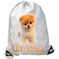 TEACUP POMERANIAN PERSONALISED GYM / SWIMMING / PE / DANCE BAG - GIFT & NAMED
