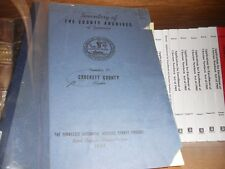 Crockett County Tennessee Inventory of Archives Genealogy