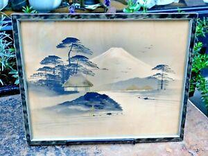 Vintage Japanese Ink Painting / Mount Fuji