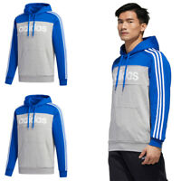Adidas Mens Essentials Hoodie Fleece Pullover Top Hoody Cotton Size S M L XL
