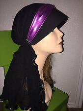 Lailly hijab hats black w/pink and rhinestones very pretty and fashionable