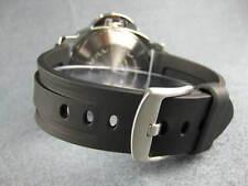 24mm HQ Soft PU Rubber Diver Strap Black Tang Watch Band PANERAI 24 mm X1