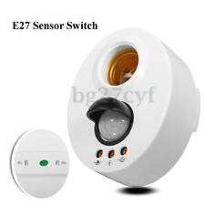 E27 Infrared Motion PIR Sensor Adjustable Delay LED Light Lamp Holder Switch