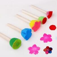 5pcs DIY Wooden Sponge Graffiti Painting Brushes Kids Drawing Educational Toys