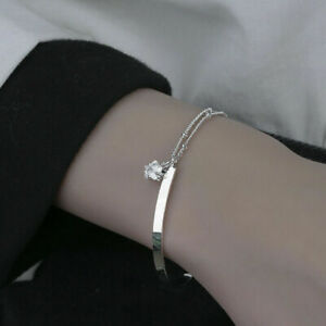 Womens Ladies 925 Sterling Silver Star Chain Bracelet Jewellery Bangle Gift UK