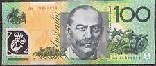 🌟 RARE Prefix AJ $100 DOLLAR 🇦🇺UNCIRCULATED NOTE AUSTRALIAN 💵 A Series Note