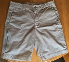 Northface Shorts 34 Gray Men's Cargo 5 Pocket Bermuda Chino Zip Pocket Brand New