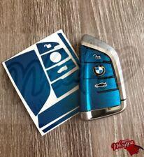 Blue Metallic BMW Key Sticker Decal Overlay X6 F16 X5 F15 Gran Tourer F46 7 G12