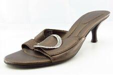 Dr. Scholl's Shoes Size 8.5 M Brown Slide Leather Women Sandal Shoes