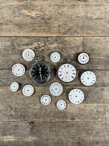 Vintage Ingersoll Pocket Watch With Pocket Watch Parts & Enamel Faces.
