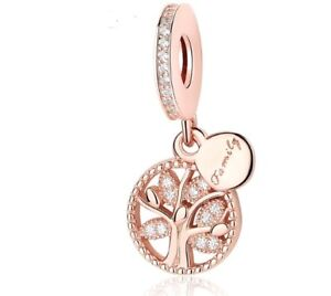ROSE GOLD FAMILY TREE HERITAGE  CHARM  GENUINE BARGAIN LIMITED QUANTITY ! SALE