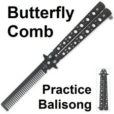 Practice Butterfly Balisong Trainer Comb Knife - NEW - Fast Shipping!  BK1651