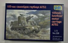 Lot 11-326 * UM 1:72 Scale kit No. 228, 105mm Howitzer Motor Carriage M7B2