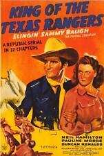 King of the Texas Rangers  - Classic Cliffhanger Serial Movie DVD Sammy Baugh
