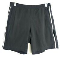 Mens Lululemon Shorts Activewear Running Workout Gray Yellow Size Large Liner
