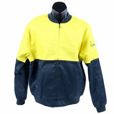 WORKSENSE Cotton Drill Jacket, Size 6XL Brush Check Cotton Lining yellow/green