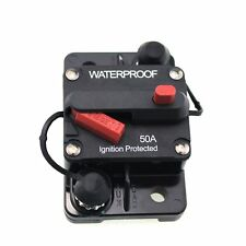 CAR TRUCK HIGH QUALITY 50 AMP SURFACE MOUNT MANUAL RESET CIRCUIT BREAKER 12V